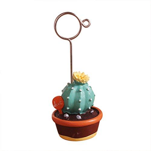 NUOLUX-Memo Note Clip Foto Inhaber Papier portamemo Zettelhalter Clip Fotorahmen Klammern Dekoration Schreibtisch 3 Base di caffè Cactus - Foto-hinweis-card-inhaber