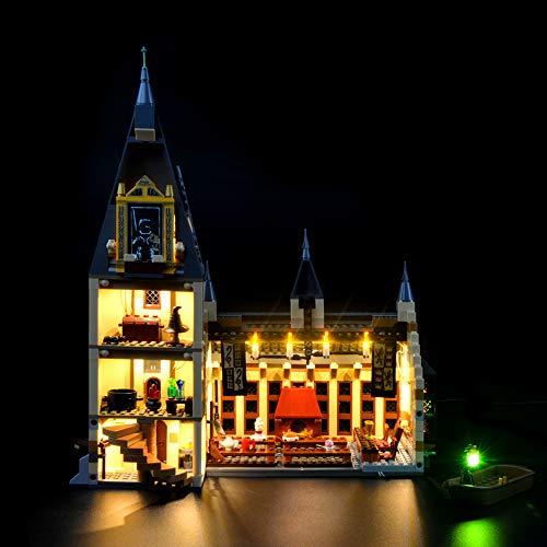 LIGHTAILING Conjunto de Luces (Harry Potter Gran Comedor de Hogwarts) Modelo de Construcción de Bloques - Kit de luz LED Compatible con Lego 75954 (NO Incluido en el Modelo)