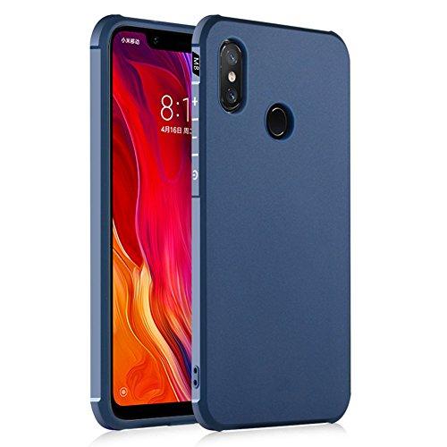 حافظة Hevaka Blade Xiaomi Mi 8 - حافظة TPU الذكية لهاتف Xiaomi Mi 8 - ازرق