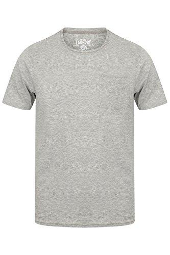 Tokyo Laundry Herren Blusen T-Shirt, Einfarbig Grau Grau Small Zac-Light Grey Marl