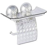 Abcidubxc - Soporte para pañuelos con ventosa, soporte de pared en rodillo, soporte para teléfono móvil, accesorios de cuarto de baño