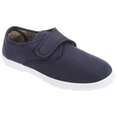 Gordini - Zapatillas de tela con cierre de velcro Hombre caballero - Alpargatas / Verano (40 EUR/Azul marino vaquero)