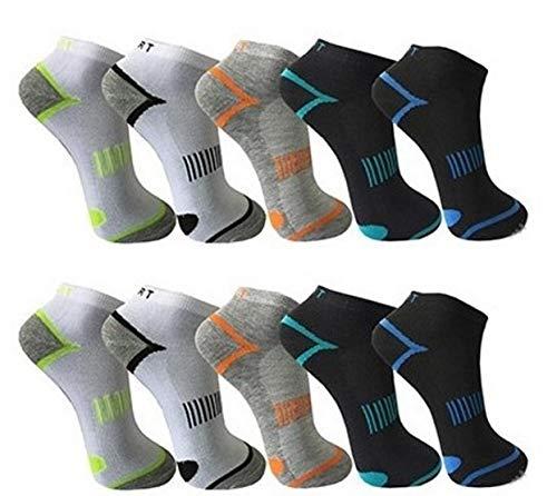 BestSale247 12 Paar Herren Sneaker Socken Füßlinge Kurzsocken Baumwolle (Muster 9, 43-46) -