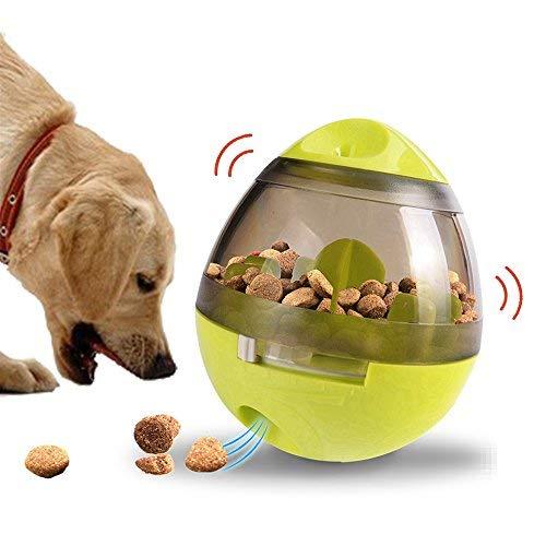 TeaQ - Dispensador de tratamientos para perros, juguetes interactivos con agujero de comida ajustable Roly-poly Funny Puzzle Games IQ Training