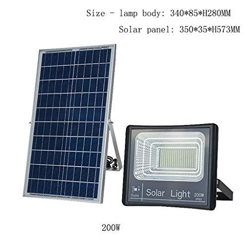 XEX Foco LED Proyector, Luz De Inundación Impermeable Solar Al Aire Libre Luz De La Pared Interior Iluminación del Jardín del Jardín Casero (Color : 200W)