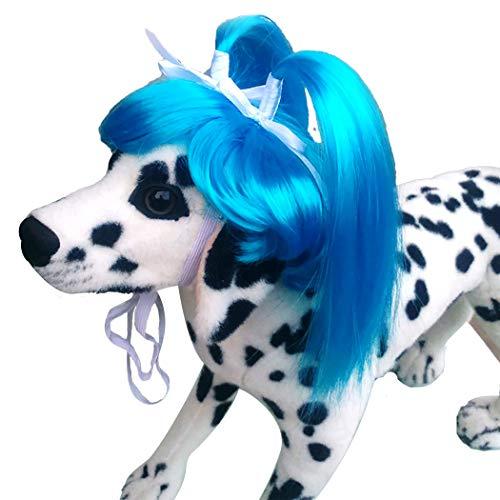 Hunde Pop Star Kostüm - Legendog Hund Perücke Lustig Pop Star