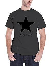 David Bowie T shirt Blackstar logo nouveau officiel Homme charcoal Gris