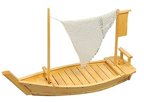 Tokyo design studio sushi barca, legno, 70x 26,5cm, colore legno