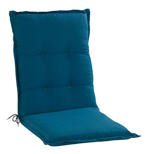 Sesselauflage Sitzpolster Gartenstuhlauflage für Mittellehner PETRO 5 | 50x110 cm | Petrol