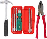 Suzec Johnson Home Utility Kit Claw Hammer Steel Shaft & 5-Pieces Screwdriver Kit & Combinati
