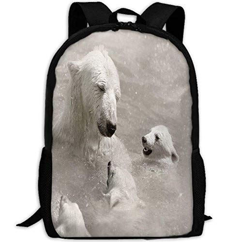 HOJJP Schultasche Polar Bear Baby School Rucksack College Bookbag Unisex Travel Backpack Laptop Bag