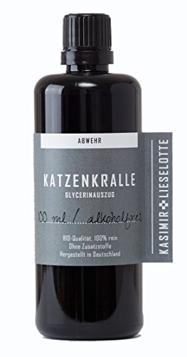 Alkoholfreie Katzenkrallentinktur, 100 ml Uncaria Tomentosa Tinktur alkoholfrei (Uncaria Tomentosa, Cats Claw)