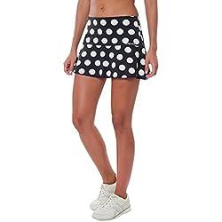 a40grados Sport & Style Lunar - Falda para Mujer, Color Negro, Talla 44