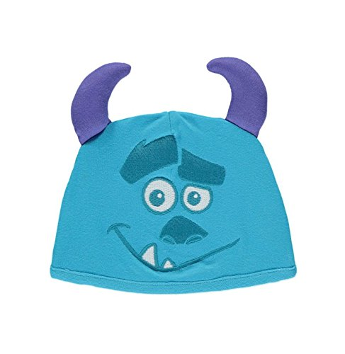 Image of Officially licensed Disney Pixar Monsters Inc Sulley Onesie Sleepsuit 12-18 Months with Hat in 100% Cotton. Made for Disney Baby at George