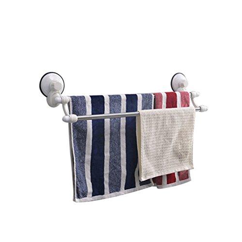 Bath Time Flagship Store LUYIASI- Edelstahl-Doppelhandtuchhalter-starker Sauger-Handtuchhalter-hängender Rod-Badezimmer-Tuch-Zahnstange Bathroom Racks (größe : 64.5x16cm) - Rod Caddy