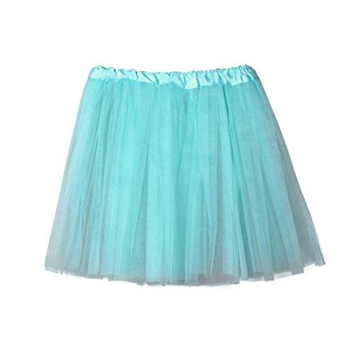 Layered Tube Top (KanLin Frauen Ballett Tutu Layered Organza Gute Qualität Damen Spitze Minirock (One Size, Light blue))