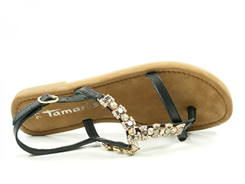 Tamaris 1-28110-28 Sandali Infradito Donna Nero