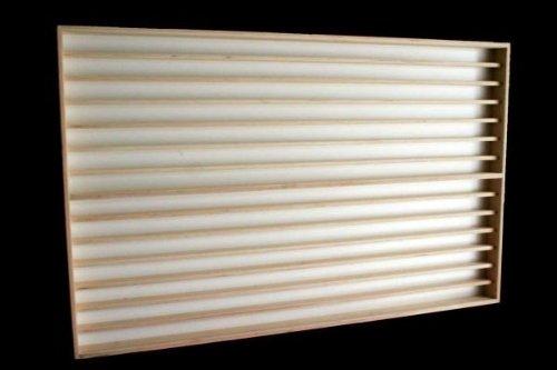 Alsino V86a Vitrine Holzregal Wandvitrine Spur N & Z Setzkasten Regal 14 Fächer mit Nuten für Spur N