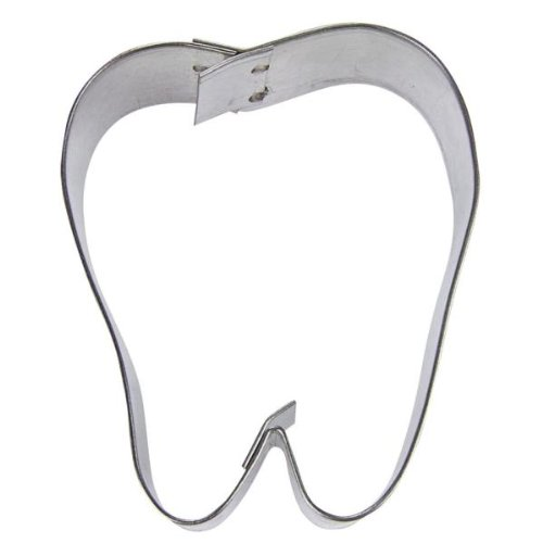 Haus Zahn Form Cookie Cutter, silber