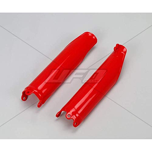 UFO - Protections Fourches Rouge Compatible Honda 125 250 CR 98-07 + 250 Crf 04-13 + 450 Crf 02-08