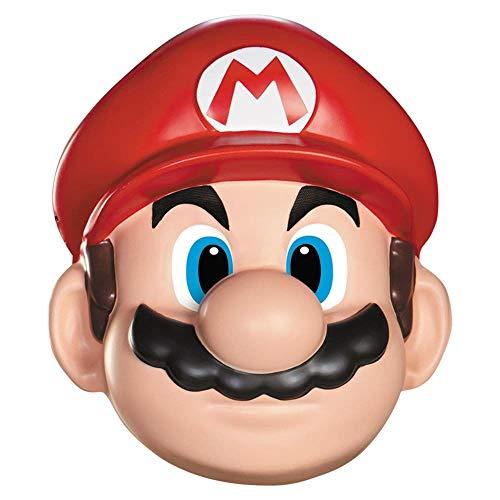 Kostüm Rote Klempner - Unbekannt Super Mario 13383-Maske Mario, Rot, Einheitsgröße
