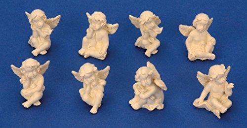 8 kleine süsse Engel Figuren je 3cm