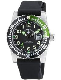 Zeno Watch Basel Airplane Diver Quartz 6349-515/GR - Reloj de caballero de cuarzo con correa de goma negra