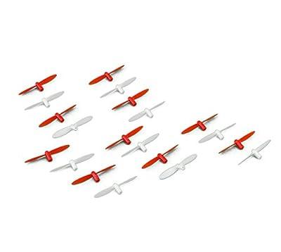 efaso Ersatzteil Revell Nano Quad 43968 / 44168 - 5 x Rotorblätter in schwarz/weiß oder rot/weiß - Passend für Nano Quad 23970 / 23971 und Nano Quad Pro 23965