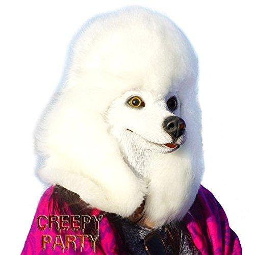 CreepyParty Deluxe Neuheit-Halloween-Kostüm-Party-Latex-Tierkopf-Schablone Masken Pudel