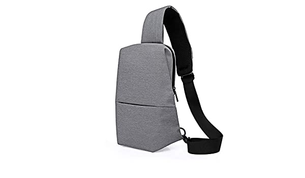 1e93fc844a HITSAN INCORPORATION YIFANGZHE Japan and Korean Classic Women Men Chest Bag  Waterproof Canvas Sling Bag Boys Small Chest Pack Girl Crossbody Bags Color  Gray ...