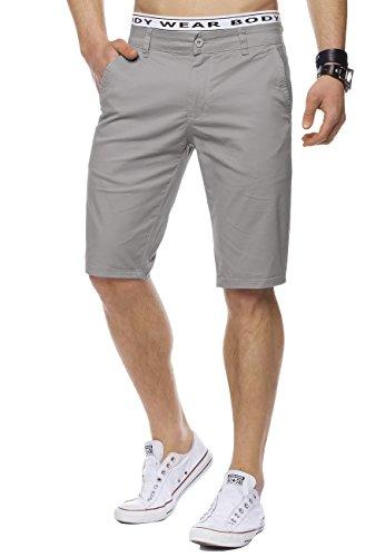 Herren Bermuda-Shorts · (Casual Slim Fit) Knielange Chino-Shorts, einfarbige Sommer Basic-Shorts, Freizeit Capri Kurze Hose, Walkshort in 12 sommerlichen Farben · H1442 in Markenqualität (Zip Klassische Shorts Fly)