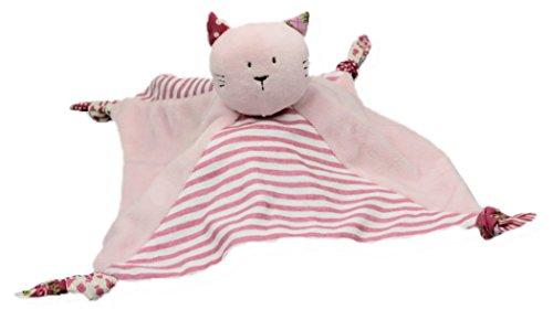 Inware 8128 - Schmusetuch Katze Emma, rosa/pink, 24 x 24 cm