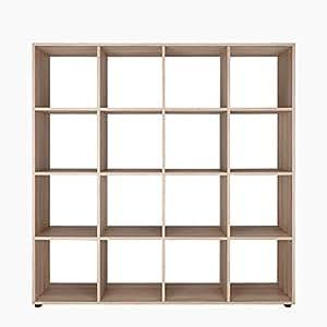 regal raumteiler b cherregal standregal split 16 f cher eiche sonoma k che haushalt. Black Bedroom Furniture Sets. Home Design Ideas