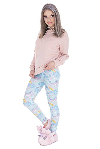 Alive Damen Leggings One size Unicorn Clouds