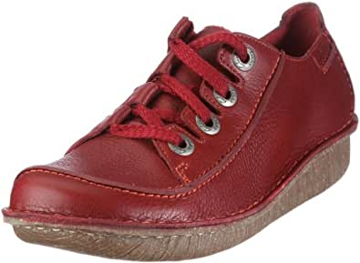Clarks Funny Story 203367144, Chaussures basses femme - Rouge-TR-L-1-23, 37 EU