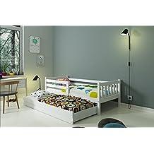 "CAMA INFANTIL NIDO 190X80 ""CARINO"" , 2 colchónes incluidos! (blanco)"