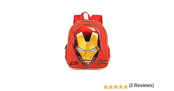 31 cm Rouge Karactermania Iron Man Armour-3D Rucksack 8.5 liters Sac /à Dos Enfants Red Klein