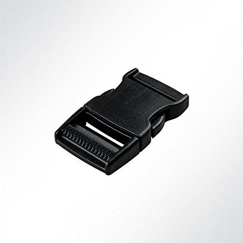 LYSEL Kunststoff Klickschnalle/Verschlussschnalle Schwarz, (BxL) 40x78mm in Schwarz (10 Stück)
