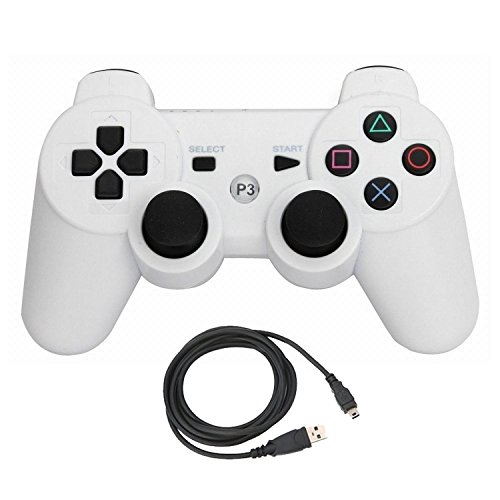 bowink Bluetooth inalámbrico controlador para PS3 doble Shock