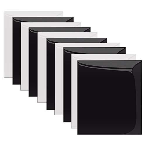 MiPremium PU Heat Transfer Vinyl, HTV Eisen auf Vinyl Starter Pack, Combo-Bundle-Kit der Transferpresse Vinyl in 10 beliebtesten Uni PU Farben, Easy Cut, Weed & Press (Black&White X 10) (Eisen-transfers)