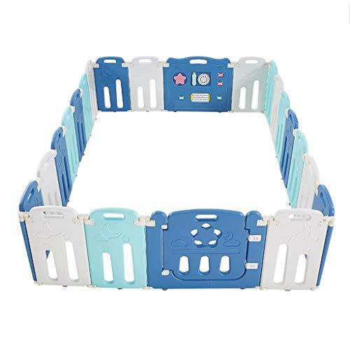 Baby-Laufstall, Game Fence Kunststoff-Laufstall, veränderbar in Achteck, Rechteck, Quadrat, Dreieck als Kleinkind & Kleinkinder Activity Center (Color : B, Size : 255 * 180cm)
