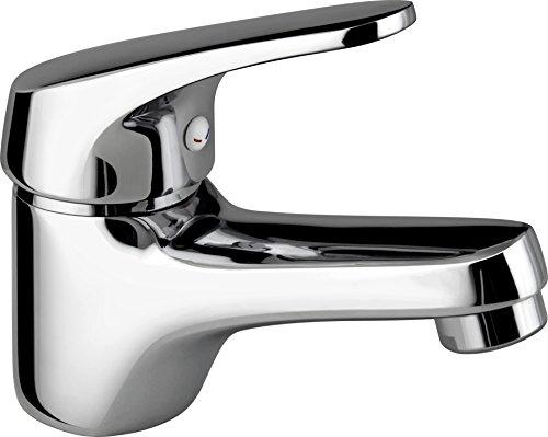 DP Grifería - Grifo de lavabo monomando color plateado, serie Limonero