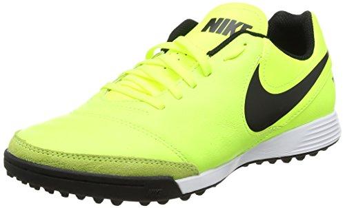 Nike Tiempox GenioIi Leather Tf, Scarpe da Calcio Uomo, Giallo (Vert Volt/Black-Vert Volt), 43 EU