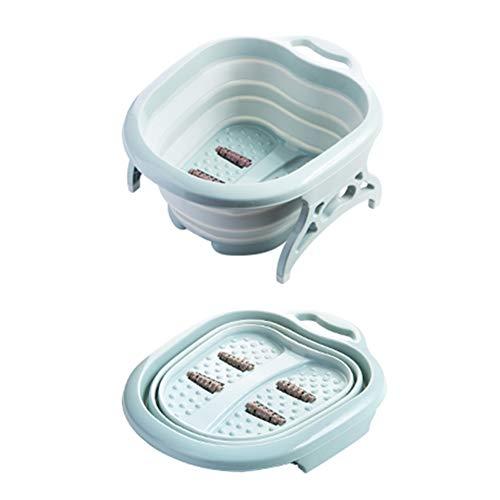 BELUPAI - Bacinella da bagno per pedicure e massaggiatore a casa, secchio pieghevole per bagnare i piedi, per applicare la rimozione dei calli, blu