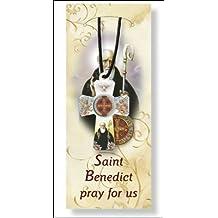 San Benito exorcismos proteger mal cat/ólico placa broche broche rojo
