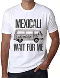 One in the City Hombre Camiseta Vintage T-Shirt Gráfico Mexicali Wait For Me Blanco