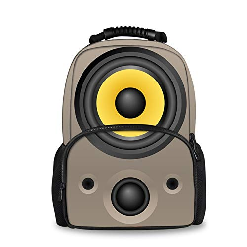 OOGUOSHENG Großhandel 3D Lautsprecher Druck Rucksack Für Frauen Reisen Laptop Weibliche Filz Rucksäcke -4 (Großhandel Taschen Für Canvas)