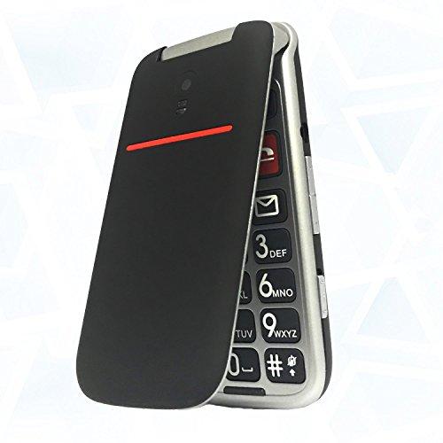 El teléfono con tapa y teclas grandes sin contrato El Artfone con tapa y teclas grandes , gran volumen y fácil de usar, utiliza una pantalla LCD en color de 2,4 pulgadas,haga números y letras más claros.Los menús y botones simples hacen que el Artfon...