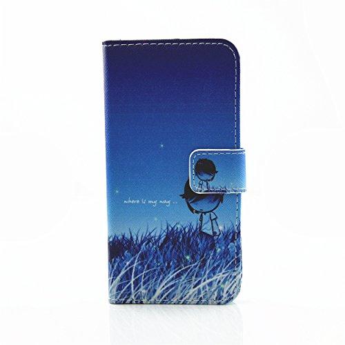 Voguecase Pour Apple iPhone 7 4,7 Coque, Etui Housse Cuir Portefeuille Case Cover (Avion en papier)de Gratuit stylet l'écran aléatoire universelle Petit garçon