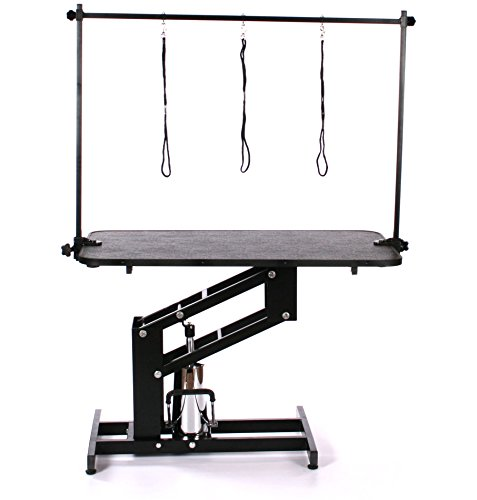 Pedigroom Large Professional Heavy Duty Hydraulic Dog Grooming Table with H Bar 2